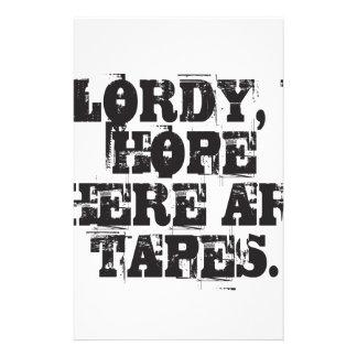 Papelaria Lordy, eu espero que há fitas