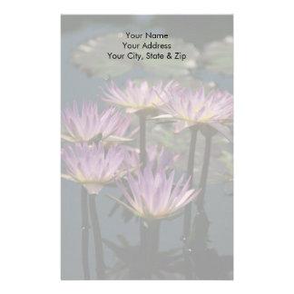 Papelaria Lotus roxo Waterlilies