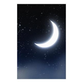 Papelaria Lua crescente sobre Sky2 estrelado