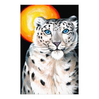 Papelaria Lua do leopardo de neve