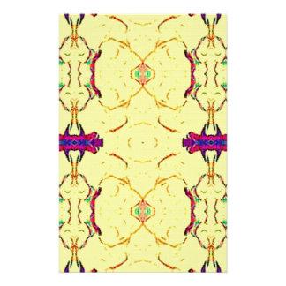 Papelaria Luz e teste padrão amarelo moderno pairoso