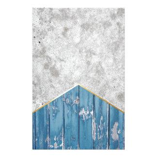 Papelaria Madeira azul #347 da seta concreta