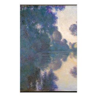 Papelaria Manhã no Seine perto de Giverny - Claude Monet.j