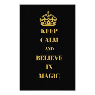 Papelaria Mantenha a calma e acredite-a na mágica