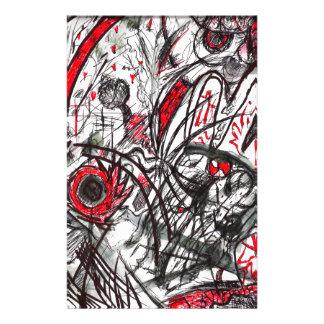 Papelaria Mãos do desenho da caneta da raiva