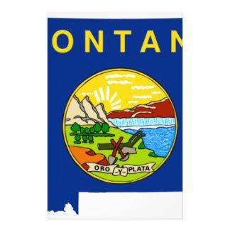 Papelaria Mapa da bandeira de Montana