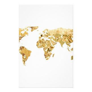 Papelaria Mapa da folha de ouro