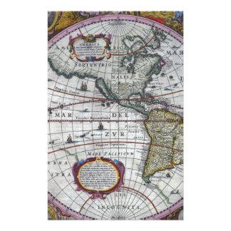 Papelaria mapa velho Americas