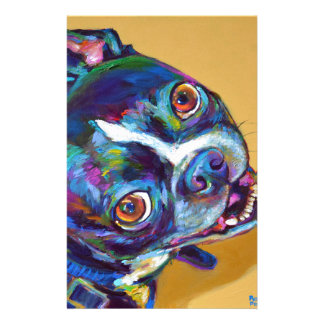 Papelaria Margarida a Boston Terrier por Robert Phelps