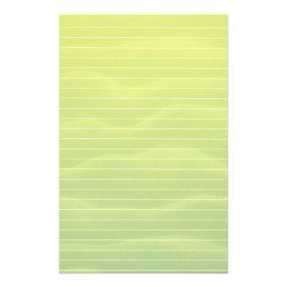 Papelaria Máscaras do verde limão com linhas