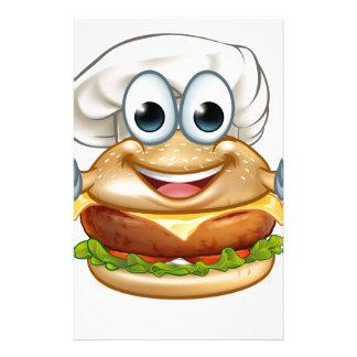 Papelaria Mascote do personagem de desenho animado da comida