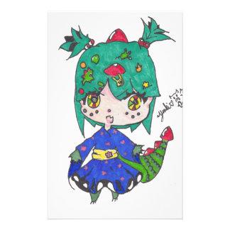 Papelaria menina do dragão editada