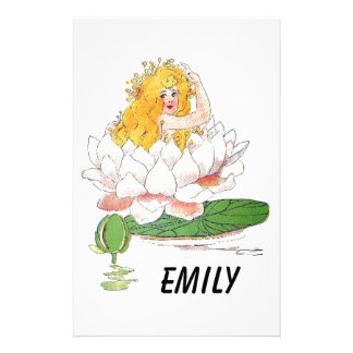 Papelaria Menina feericamente floral bonito da criança de