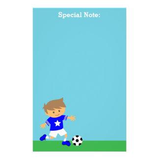 Papelaria Menino bonito da estrela de futebol, tema do
