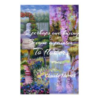 Papelaria Mensagem de Monet sobre flores