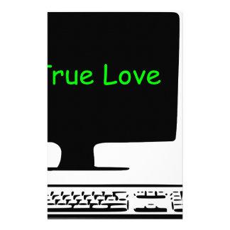 Papelaria Meu amor verdadeiro meu computador