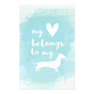 Papelaria Meu coração pertence a meu watercolo da caligrafia