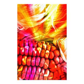 Papelaria milho listrado quente