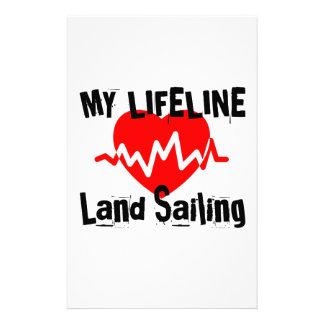 Papelaria Minha linha de vida navigação da terra ostenta o