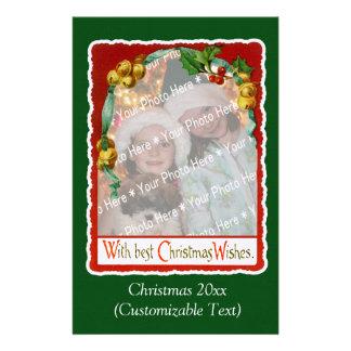 Papelaria Modelo da foto dos desejos do natal vintage