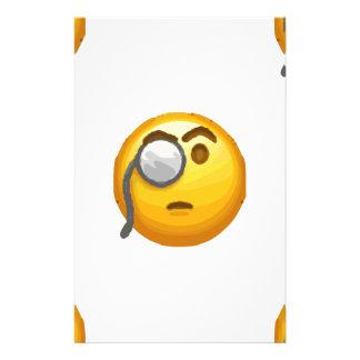 Papelaria monocle do emoji