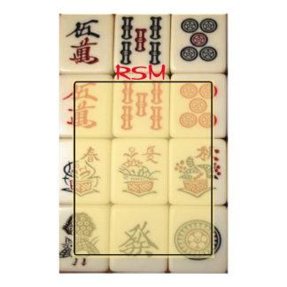 Papelaria Monograma de Mahjong