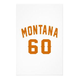 Papelaria Montana 60 designs do aniversário