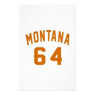 Papelaria Montana 64 designs do aniversário