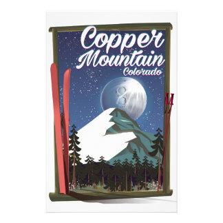 Papelaria Montanha do cobre do poster de viagens de Colorado