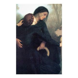 Papelaria Mulheres góticos Bouguereau da cruz preta do