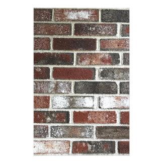 Papelaria Multi parede de tijolo da cor com vermelhos,
