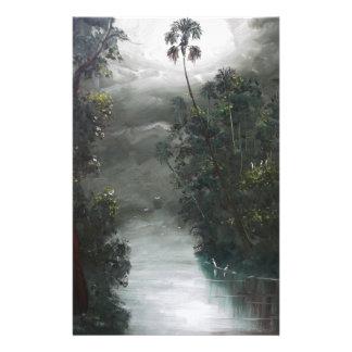 Papelaria Musgo enevoado do rio de Florida