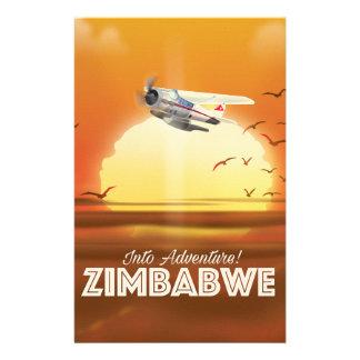 Papelaria Na aventura! Poster de viagens de Zimbabwe
