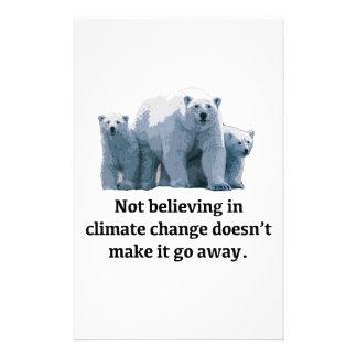 Papelaria Não acreditando nas alterações climáticas
