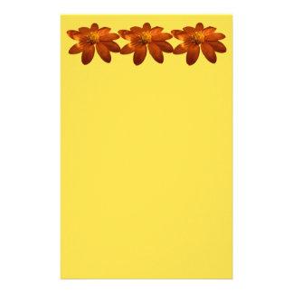Papelaria Nascer do sol em floral alaranjado do girassol