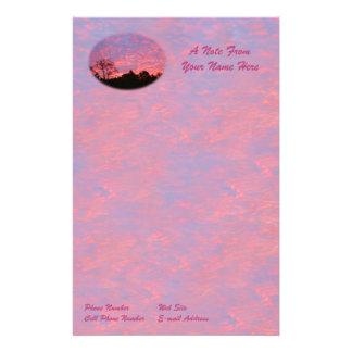 Papelaria Nascer do sol Vibrantly cor-de-rosa