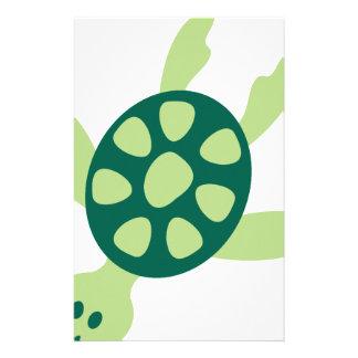 Papelaria Natação da tartaruga verde