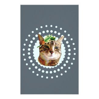 Papelaria Natal alegre do gato de gato malhado do azevinho
