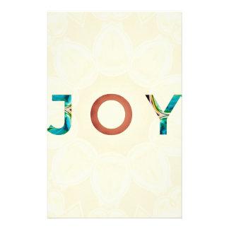 Papelaria Natal moderno 'Joy do fundo de creme