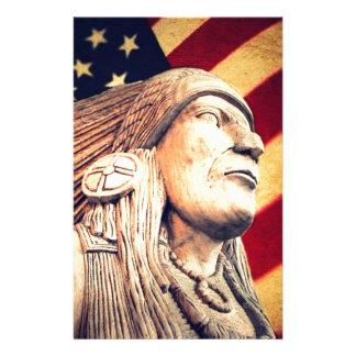 Papelaria Nativo americano patriótico da bandeira rústica