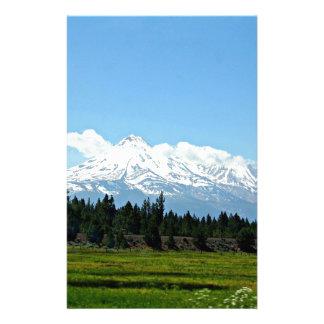 Papelaria Natureza da paisagem da montanha de Shasta