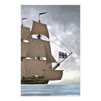 Papelaria Navigação Corveta em um dia lindo