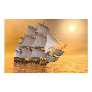 Papelaria Navio mercante velho - 3D rendem