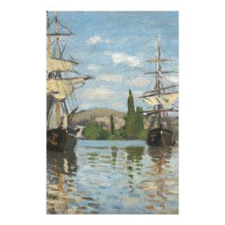 Papelaria Navios de Claude Monet que montam no Seine em