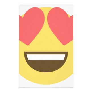 Papelaria No emoji do smiley do amor