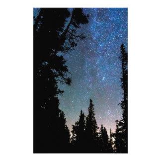 Papelaria Noite da floresta da montanha rochosa