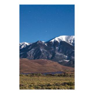 Papelaria Noite estrelado de dunas de areia de Colorado do