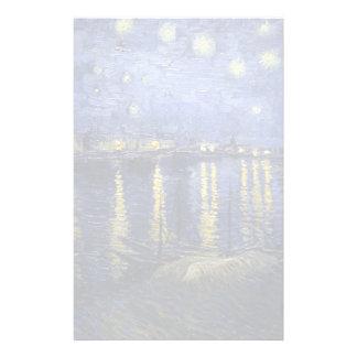 Papelaria Noite estrelado de Van Gogh | sobre o Rhone | 1888