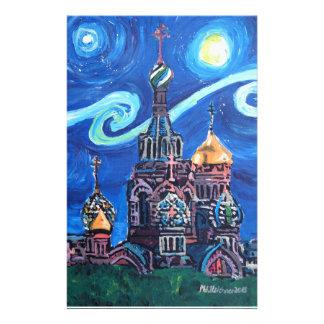 Papelaria Noite estrelado em St Petersburg Rússia