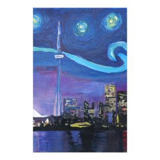 Papelaria Noite estrelado em Toronto com inspirações de Van